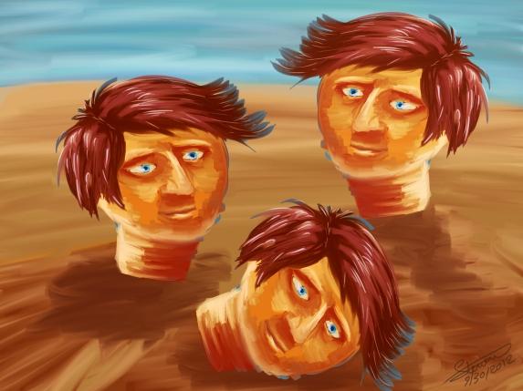 3 heads_Steven George