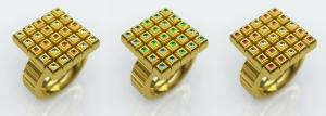 Gold Rings in Modo image