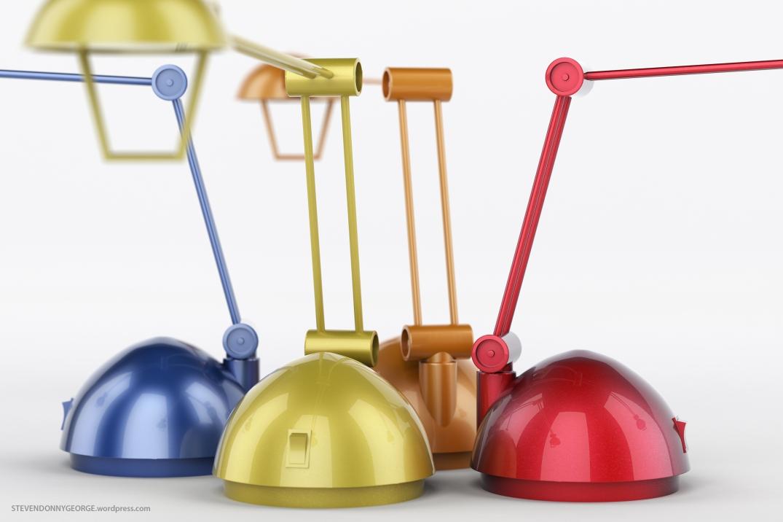 Four Lamps Close Up